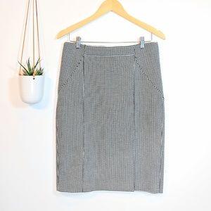 • banana republic • houndstooth pencil skirt